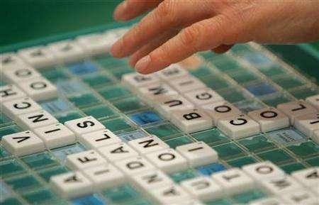 A competitor takes part in the World Scrabble Championships in London November 17, 2005. REUTERS/Toby Melville