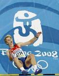 <p>Российский прыгун в высоту Андрей Сильнов на квалификационном этапе Олимпиады в Пекине 17 августа 2008 года. Сильнов завоевал золотую медаль в прыжках в высоту. REUTERS/Kim Kyung-Hoon (CHINA)</p>