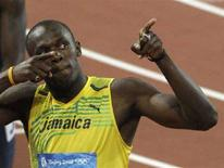 <p>Usain Bolt REUTERS/David Gray</p>