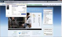 <p>Una immagine di una schermata di Explorer 8 di Microsoft. REUTERS/Microsoft Corporation/Handout. NO SALES. NO ARCHIVES. FOR EDITORIAL USE ONLY. NOT FOR SALE FOR MARKETING OR ADVERTISING CAMPAIGNS.</p>