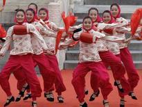 <p>Una immagine della cerimonia di apertura delle Paraolimpiadi a Pechino. REUTERS/Jason Lee (CHINA)</p>