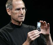 <p>Steve Jobs, le directeur général d'Apple a présenté mardi lors d'une conférence de presse de nouveaux modèles de ses baladeurs numériques iPod Touch et iPod nano. /Photo prise le 9 septembre 2008/REUTERS/Robert Galbraith</p>