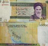 <p>Новая иранская банкнота достоинством 50.000 реалов, Тегеран, 4 марта 2007 года. REUTERS/Stringer</p>