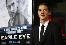 """<p>Cast member Shia LaBeouf poses at the premiere of the movie """"Eagle Eye"""" at the Grauman's Chinese theatre in Hollywood, California September 16, 2008. REUTERS/Mario Anzuoni</p>"""