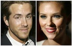 <p>Actor Ryan Reynolds is pictured in Hollywood, California in April 7, 2005 and actress Scarlett Johansson (R) is pictured in New York City in July 26, 2006 in this combination photo. Scarlett Johansson and Ryan Reynolds were married over the weekend, a spokesman for Johansson said. REUTERS/Eric Thayer/Michael Buckner-files</p>