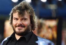 """<p>Cast member Jack Black attends the premiere of """"Tropic Thunder"""" at the Mann's Village theatre in Westwood, California August 11, 2008. The movie opens in the U.S. on August 13. REUTERS/Mario Anzuoni</p>"""