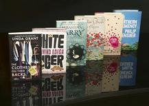 <p>The books on the shortlist for the 2008 Man Booker Prize for Fiction are seen in this undated handout photo. REUTERS/James Darling/Handout</p>
