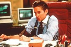 """<p>Michael Douglas as Gordon Gekko in a scene from the 1987 film """"Wall Street"""". With all eyes on the world's see-sawing stock markets, Fox is bullish on a sequel to """"Wall Street."""" Douglas, who won an Oscar for his role as corporate raider Gordon Gekko, is interested in reprising the character, but will see how the script turns out before committing. The storyline is being kept under wraps. REUTERS/Handout</p>"""