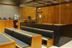 <p>General view of the courtroom in Charleville-Mezieres courthouse, March 26, 2008. REUTERS/Benoit Tessier</p>