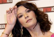 """<p>Catherine Zeta-Jones attends a press conference for the launch of the movie """"Death Defying Acts"""" in Sydney March 10, 2008. REUTERS/Patrick Riviere</p>"""