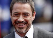 """<p>Actor Robert Downey Jr arrives for the premiere of """"Iron Man"""" at the Leicester Square Odeon cinema in London, April 24, 2008. REUTERS/Stephen Hird</p>"""