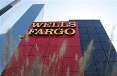 <p>A Wells Fargo bank is pictured in Dallas, Texas October 9, 2008. REUTERS/Jessica Rinaldi</p>