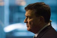 <p>Jim Flaherty, Canadian Minister of Finance, speaks to the media after the federal and provincial finance ministers meeting in Toronto November 3, 2008. REUTERS/Mark Blinch</p>