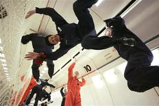 """<p>European officials, technicians and journalists experience zero gravity during a """"Zero G"""" test flight over Bordeaux, France in this picture taken November 7, 2008. REUTERS/Tim Hepher</p>"""