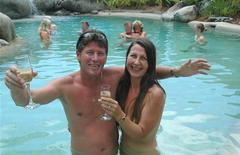<p>Tony Fox (L), the owner of the White Cockatoo resort in Mossman, in tropical Queensland state, and his wife Lenore pose in this undated handout photo at the resort. REUTERS/White Cockatoo/Handout IMAGE PIXELATED AT SOURCE</p>
