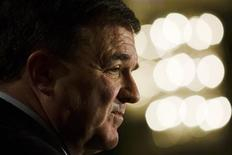 <p>Canadian Finance Minister Jim Flaherty speaks to the economic community in Toronto November 28, 2008. REUTERS/Mark Blinch</p>