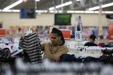 "<p>A woman shops at a Walmart store on ""Black Friday"" in Oakland, California, November 28, 2008. REUTERS/Kimberly White</p>"