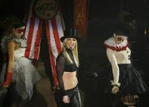 """<p>Britney Spears receives a birthday cake after performing on ABC's """"Good Morning America"""" in New York on December 2, 2008. REUTERS/Lucas Jackson</p>"""