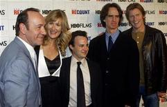"""<p>(L to R) Kevin Spacey, Laura Dern, Danny Strong, Director and Executive Producer Jay Roach and Denis Leary arrive during the premiere of """"Recount"""" at the Museum of Modern Art in New York City, May 13, 2008. REUTERS/Joshua Lott</p>"""