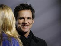 """<p>Jim Carrey al lancio del suo film """"Yes man"""". REUTERS/Mario Anzuoni</p>"""
