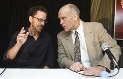 """<p>Director Ethan Coen (L) and John Malkovich attend the """"Burn After Reading"""" news conference during the 33rd Toronto International Film Festival September 6, 2008. REUTERS/Mark Blinch</p>"""