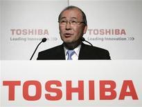 <p>Il presidente di Toshiba Atsutoshi Nishida. REUTERS/Michael Caronna (JAPAN)</p>