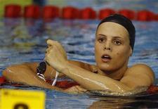 <p>Nuoto, Manaudou chiude la stagione, non parteciperà ai Mondiali. REUTERS/Nikola Solic</p>