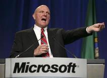 <p>Steve Ballmer, AD di Microsoft. REUTERS/Marcus R. Donner (UNITED STATES)</p>