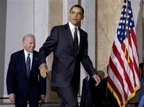 <p>Il presidente Usa Barack Obama. REUTERS/Larry Downing</p>