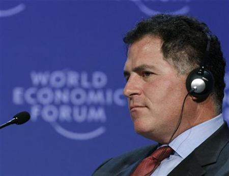 Michael Dell, chairman of the board and chief executive officer of Dell, attends a session at the World Economic Forum (WEF) in Davos January 28, 2009. REUTERS/Christian Hartmann