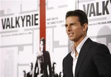 """<p>Tom Cruise poses at the premiere of the movie """"Valkyrie"""" at the Directors Guild of America in Los Angeles, December 18, 2008. REUTERS/Mario Anzuoni</p>"""