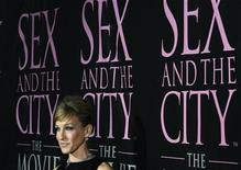 "<p>Actress Sarah Jessica Parker arrives for the DVD launch event for ""Sex and the City: The Movie"" in New York September 18, 2008. REUTERS/Lucas Jackson</p>"