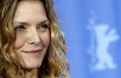 <p>Michelle Pfeiffer poses during a photocall to promote the movie 'Cheri' at the 59th Berlinale film festival in Berlin, February 10, 2009. REUTERS/Fabrizio Bensch</p>