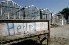 <p>A sign is seen at the site where drug traffickers had built a tunnel, the length of a football field, across the US-Canada border in Aldergrove, British Columbia July 21, 2005. REUTERS/Andy Clark</p>