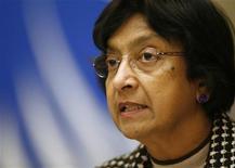 <p>L'Alto Commissario dell'Onu per i Diritti Umani Navi Pillay. REUTERS/Denis Balibouse (SWITZERLAND)</p>
