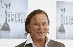 <p>Actor Mickey Rourke arrives at the 24th annual Spirit Awards in Santa Monica, California February 21, 2009. REUTERS/Lucas Jackson</p>