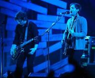 <p>The Kings of Leon perform at the Brit Awards at Earls Court in London February 18, 2009. REUTERS/Dylan Martinez</p>
