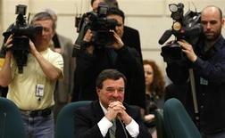 <p>Finance Minister Jim Flaherty waits to testify before the Commons finance committee on Parliament Hill, February 23, 2009. REUTERS/Chris Wattie</p>