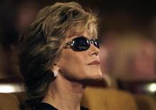 "<p>U.S. actress Jane Fonda attends a panel discussion ""Reel Women Power: Advancing social and humanitarian issues through the medium of films"" during the Middle East International Film Festival (MEIFF) in Abu Dhabi October 15, 2008. REUTERS/Jumana El Heloueh</p>"