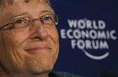 <p>Microsoft founder Bill Gates speaks during a news conference at the World Economic Forum (WEF) in Davos January 30, 2009. REUTERS/Christian Hartmann</p>