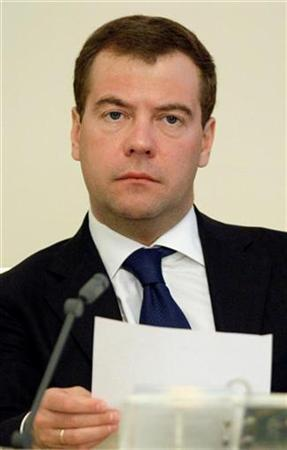Russia's President Dmitry Medvedev chairs the Security Council meeting in Moscow March 24, 2009.REUTERS/Pool/Ivan Sekretarev