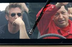 <p>Venezuelan President Hugo Chavez drives his vehicle as actor Sean Penn sits in the back in the western state of Tachira, August 3, 2007. REUTERS/Jorge Silva</p>