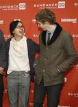 """<p>Charlyne Yi (L) and Michael Cera laugh as they arrive for the premiere of the film """"Paper Heart"""" at the 2009 Sundance Film Festival in Park City, Utah January 17, 2009. REUTERS/Danny Moloshok</p>"""