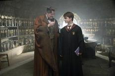 """<p>Jim Broadbent and Daniel Radcliffe in a scene from the Warner Bros Pictures film """"Harry Potter and the Half-Blood Prince"""". REUTERS/Handout</p>"""