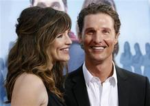 """<p>Matthew McConaughey poses with co-star Jennifer Garner at the premiere of """"The Ghosts of Girlfriends Past"""" at the Grauman's Chinese theatre in Hollywood, California in this April 27, 2009 file photo. REUTERS/Mario Anzuoni/Files</p>"""