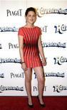 """<p>Foto de archivo de la actriz Kristen Stewart a su llegada al estreno de la cinta """"Adventureland"""" en Hollywood, 16 mar 2009. En el primer año que los premios MTV Movie Awards permitieron a sus seguidores escoger a sus nominados, la cinta romántica de vampiros """"Twilight"""" lidera las categorías con siete candidaturas, dijo el lunes la popular cadena de cable. REUTERS/Jason Redmond</p>"""