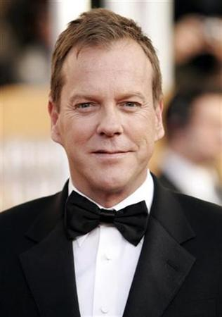 Actor Kiefer Sutherland nominated for Outstanding Performance by a Male Actor in a Television Movie or Miniseries for ''24:Redemption'' arrives at the 15th annual Screen Actors Guild Awards in Los Angeles January 25, 2009. REUTERS/Danny Moloshok