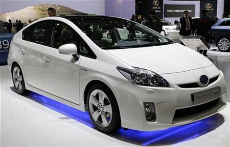 A Toyota Prius 3 is displayed during the first media day of the 79th Geneva Car Show at the Palexpo in Geneva March 3, 2009. REUTERS/Valentin Flauraud