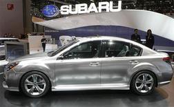 <p>Концепт новой Subaru Legacy на автошоу в Женеве 3 марта 2009 года. Fuji Heavy Industries, производитель автомобилей Subaru, запустила в среду производство новой обновленной серии Legacy, сообщает компания. REUTERS/Arnd Wiegmann</p>