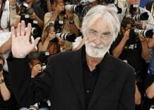 """<p>Director Michael Haneke poses during a photo call for the film """"Das weisse Band"""" in competition at the 62nd Cannes Film Festival, May 21, 2009. REUTERS/Eric Gaillard</p>"""